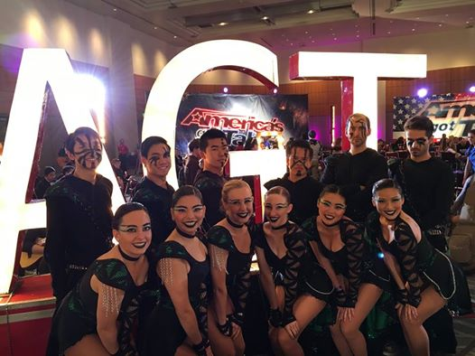 The UCSD DanceSport Team in costume at America's Got Talent Pre-Auditions