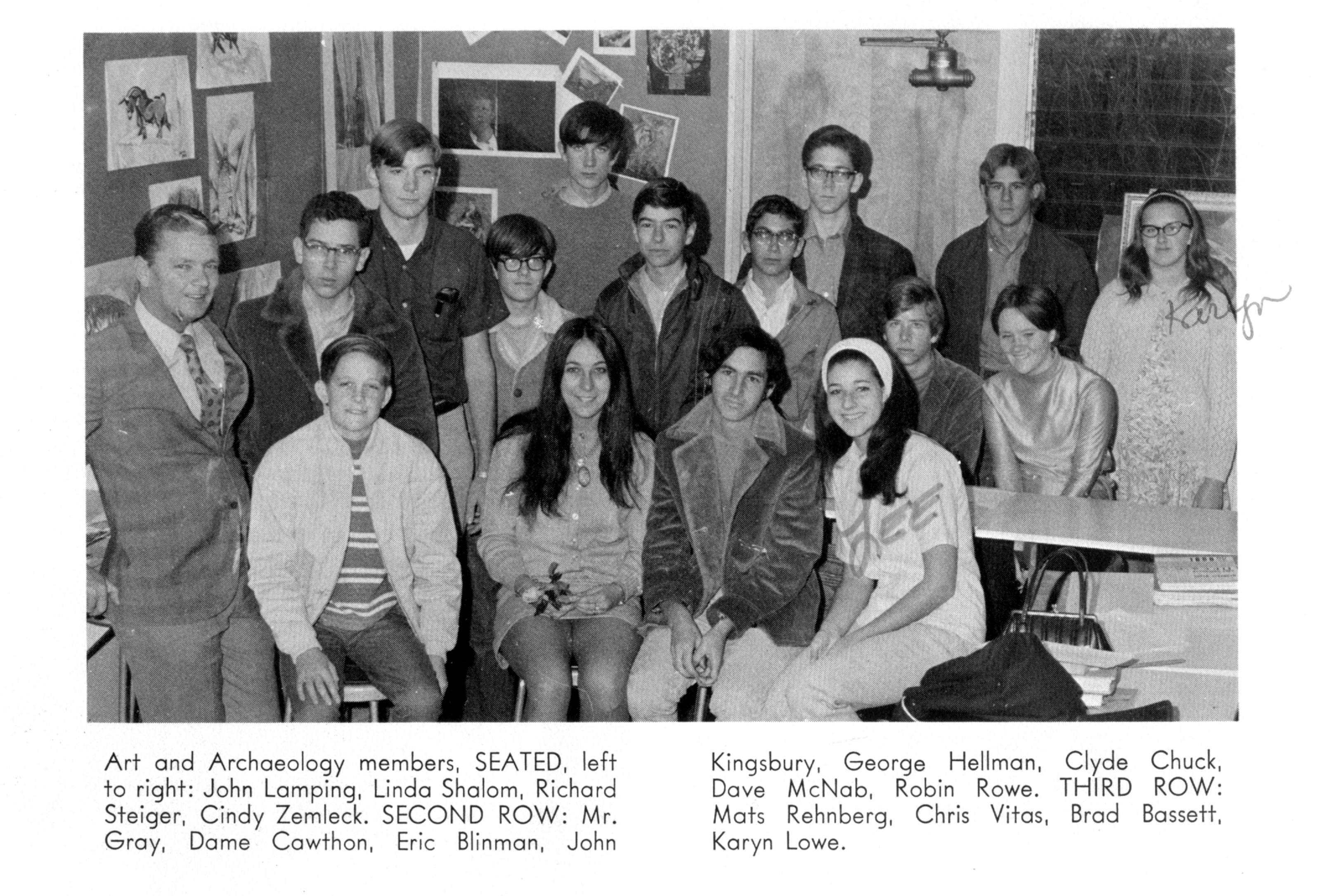 1970 Art and Achaeology Club