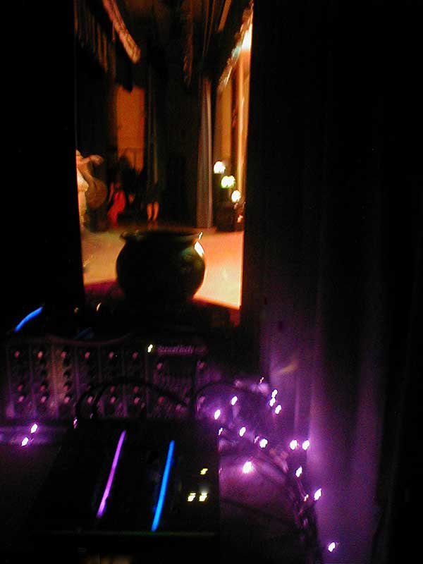 Scenes from a Graveyard show audio desk, 2008, La Mesa Middle School