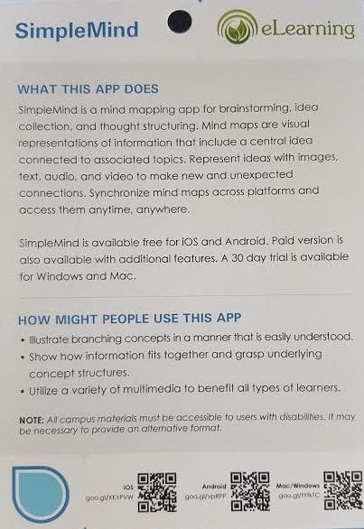 SimpleMind App Description