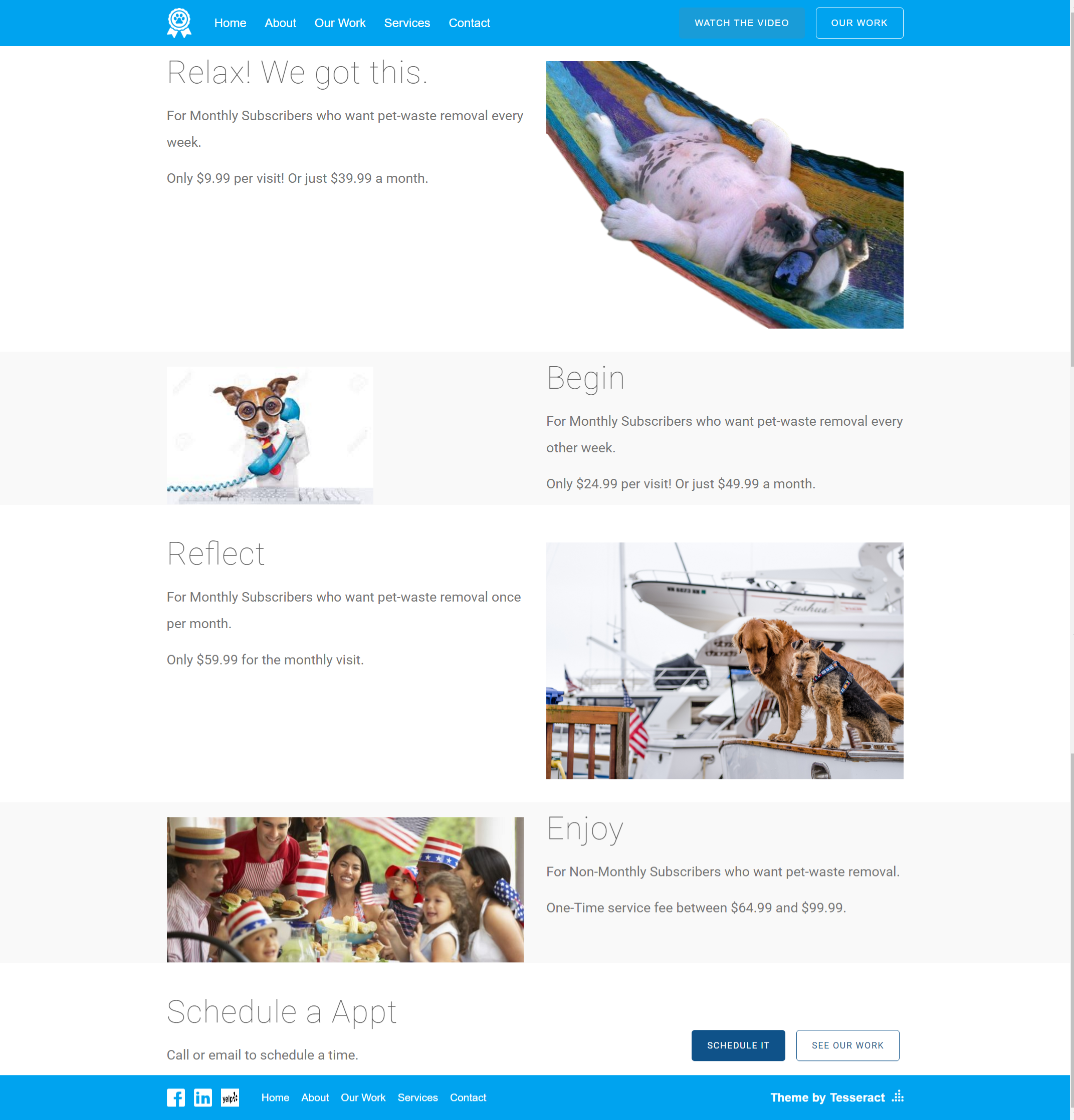 Services Page View