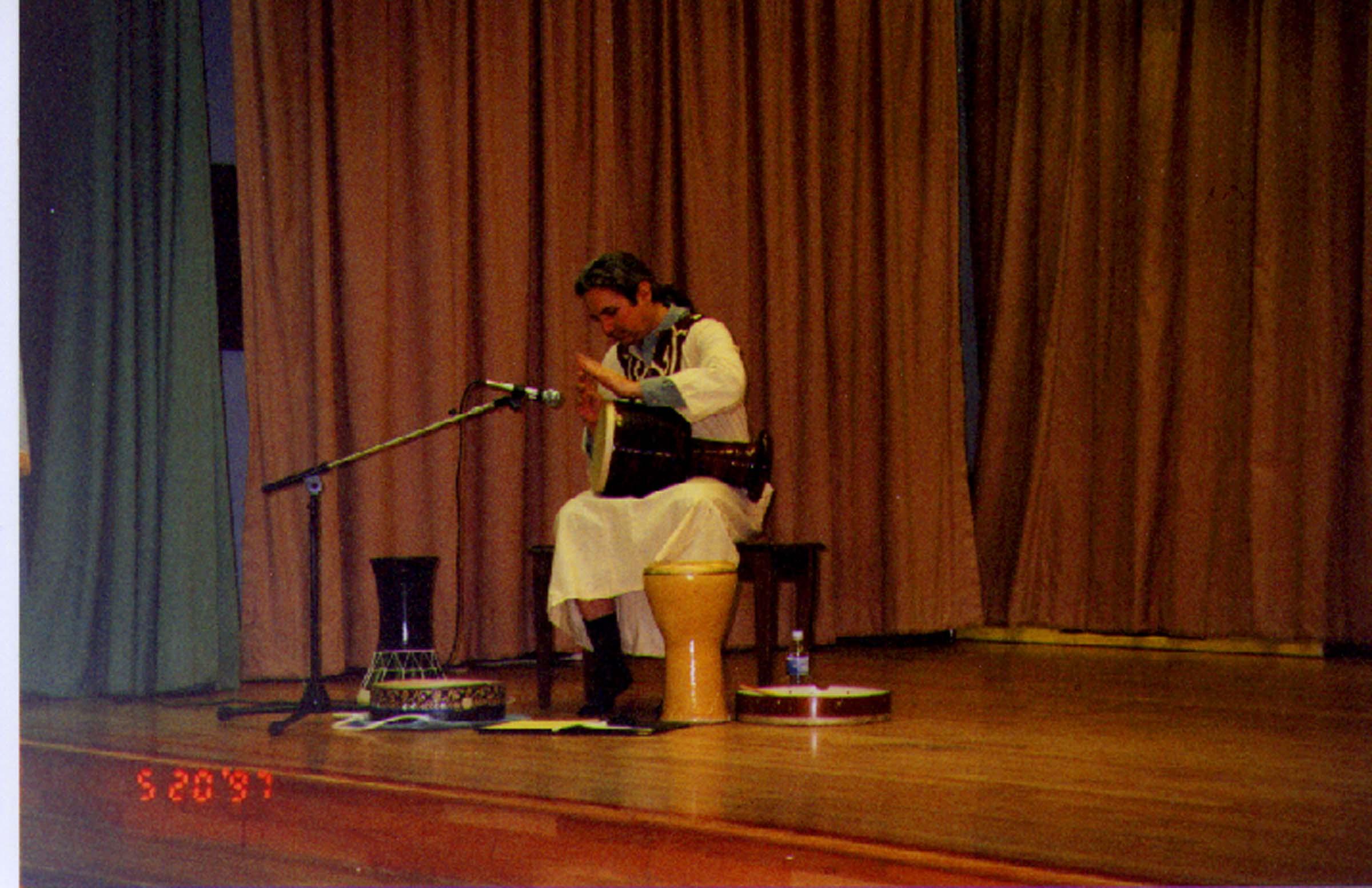 Demonstrating Middle-Eastern drumming for Cultural Awareness Wek @ Murdock elementary School, La Mesa CA