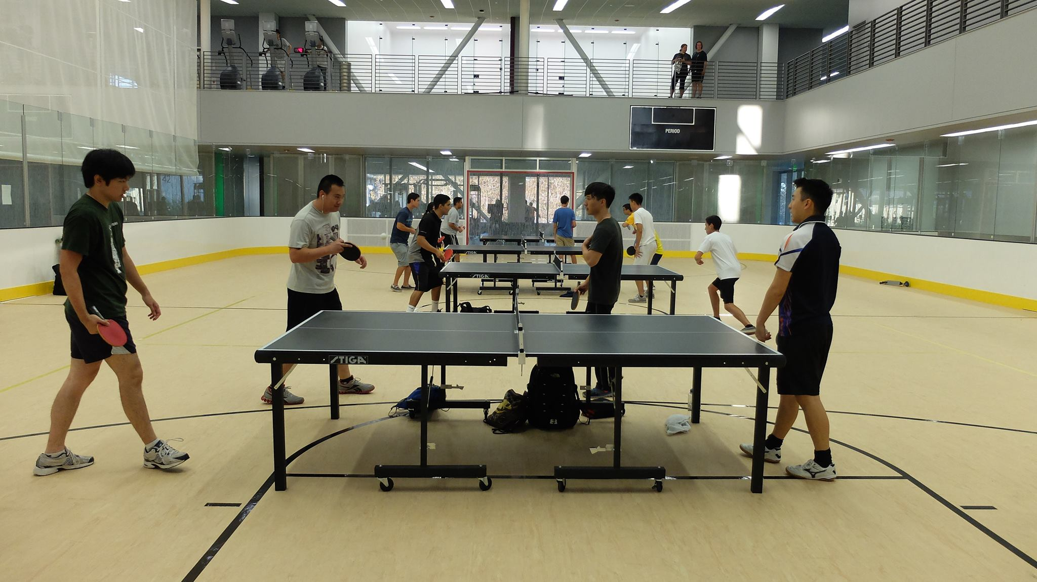 CPP Table Tennis Club practice at the BRIC