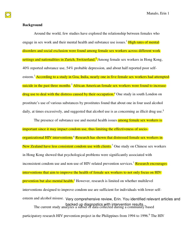 CHS 477 Final Paper with Instructor Feedback