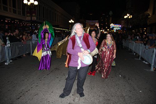 2013 San Diego Gas Lamp Quarter Mardi Gras. Ana's Dancers