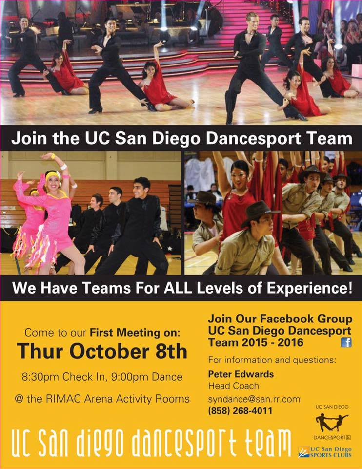 UCSD DanceSport Flyer