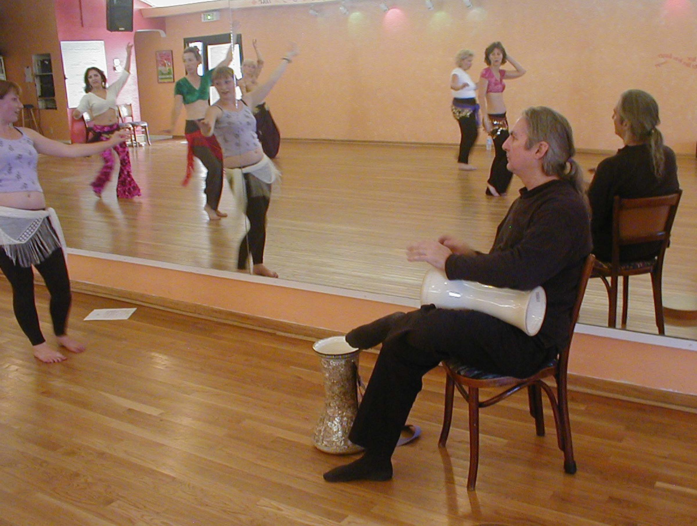 2004 Drumming for Talia and class for my seminar: Dancing with the Tabla Arabi @ Dancing Unlimited