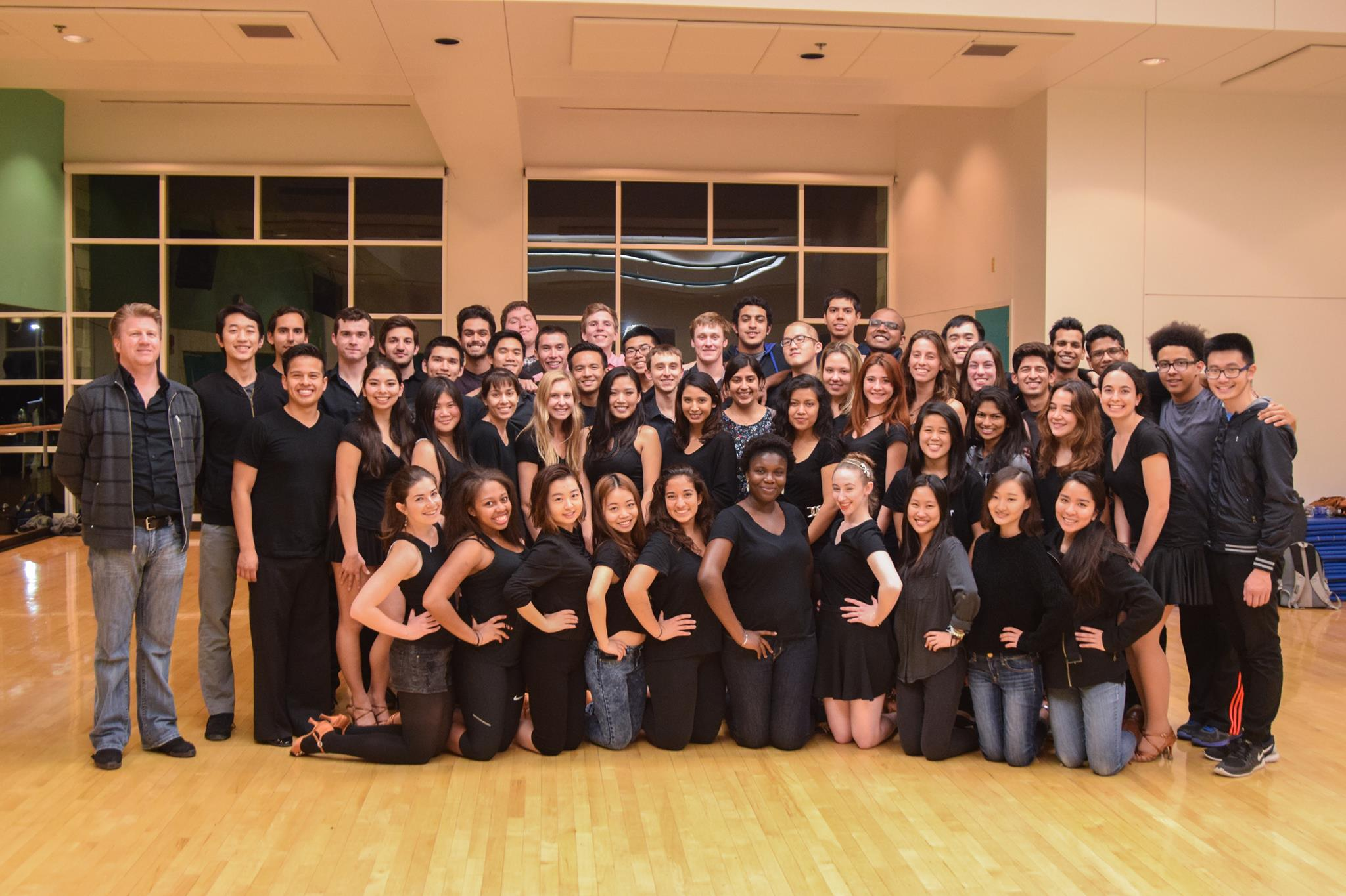 The entire UCSD DanceSport team