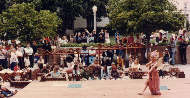 Intercon 1982 at Balboa Park, Javanese gamelan (playing gambuh. far left)