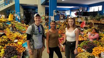 Visiting the local market in Urubamba, Peru.