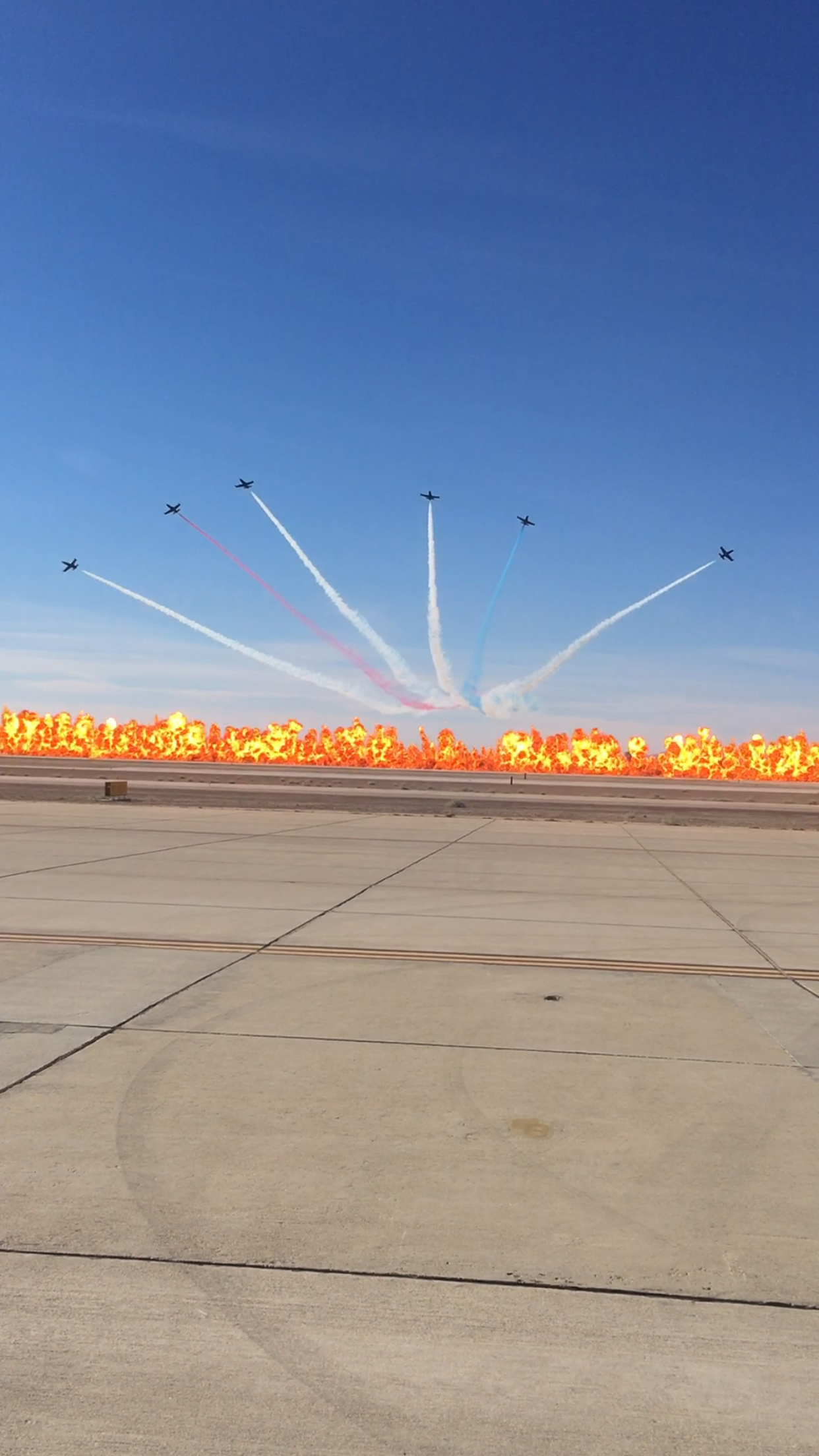 MCAS Yuma Airshow Guinness World Record Wall of Fire ft Patriot's Jet Team
