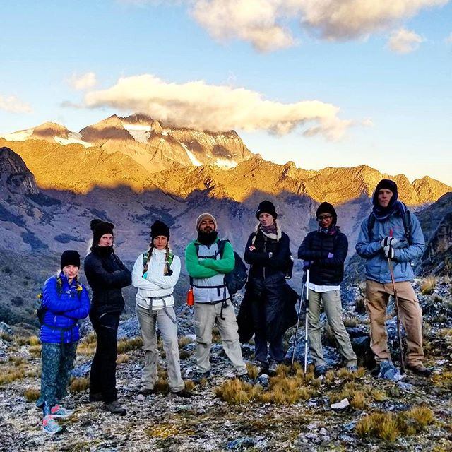 Hiking with my students in the Andes!