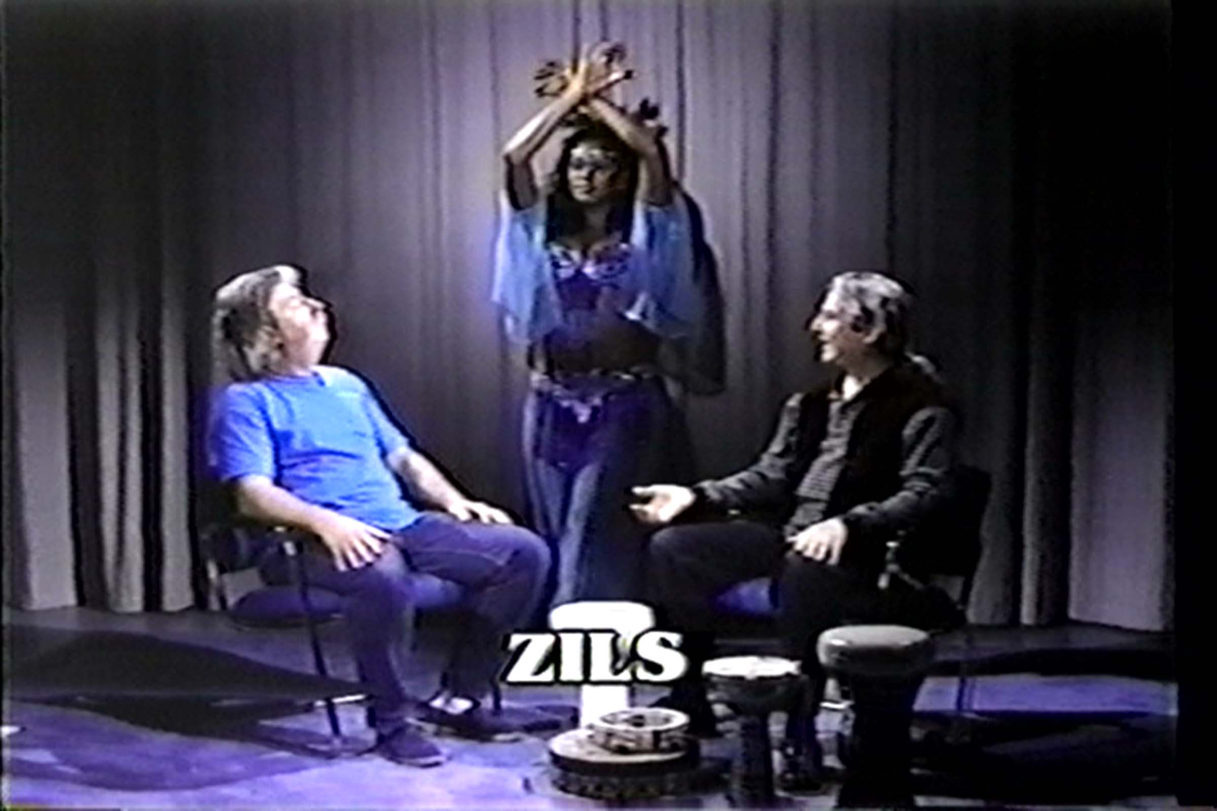 2001 On-screen demo during segment about Mid=Eastern instruments for belly dance. Belly Dancing in America, dir. by Tim Wayne. Boradcast on Cox Cable Public Access