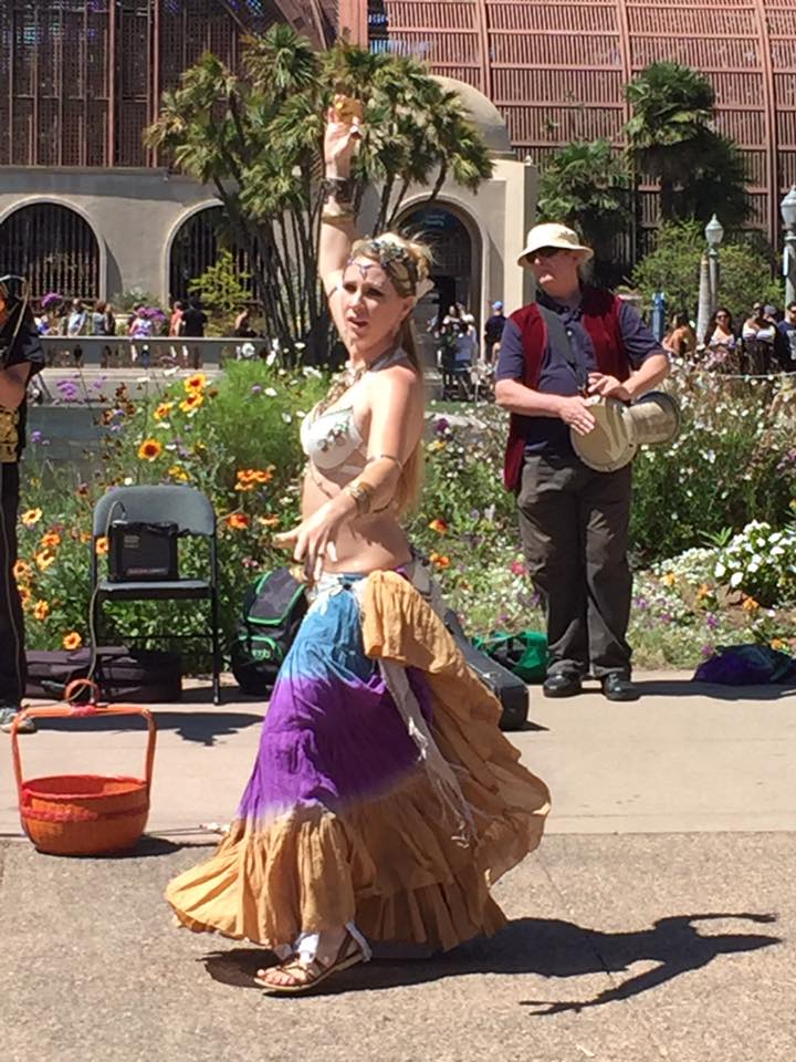 2016 Busk in Balboa Park with Chet Harrison (violin, guitar) and Amanda Olah (dancer)