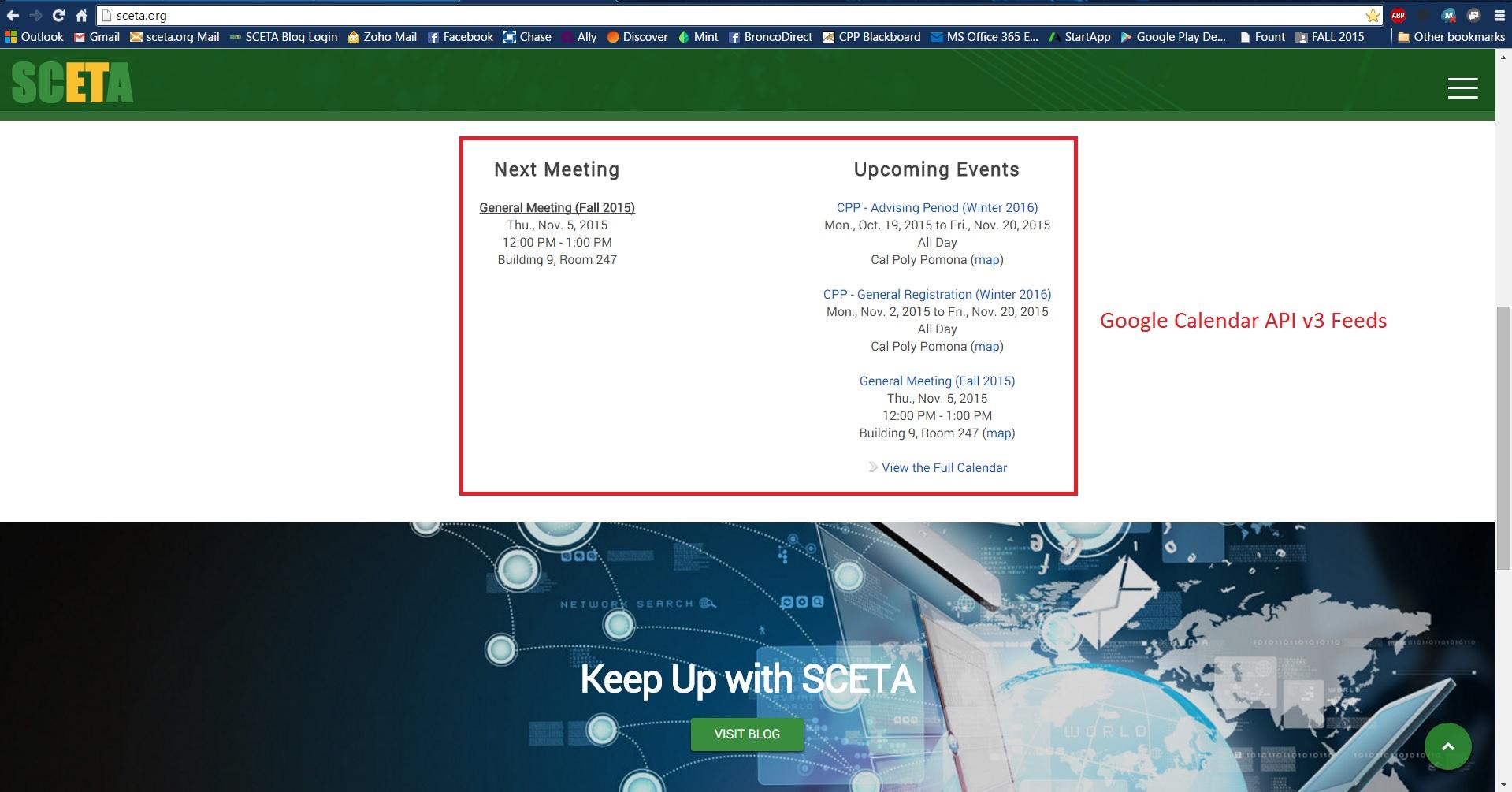 Automated calendar content using the Google Calendar API