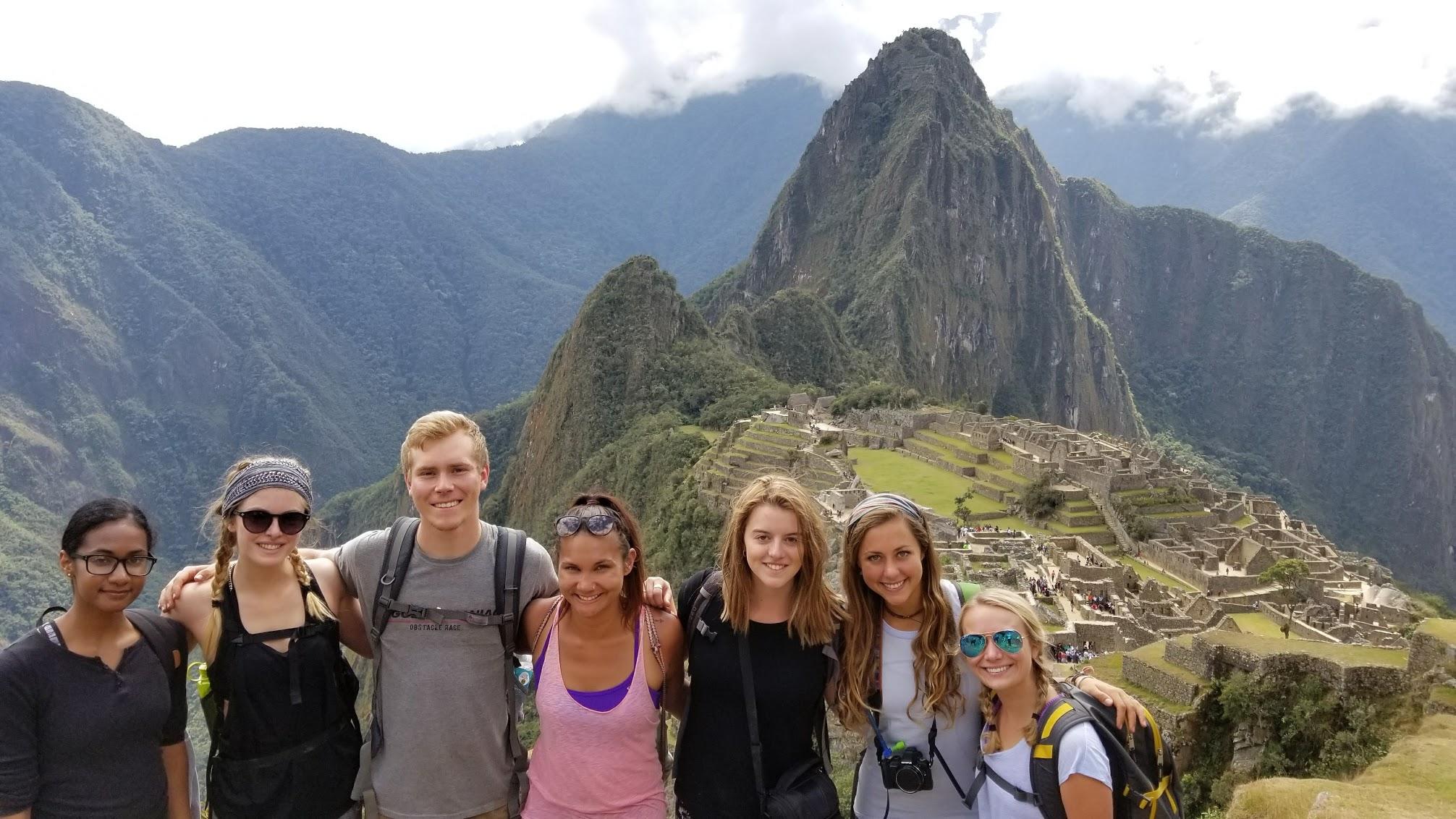 My interns hiking at Machu Picchu!