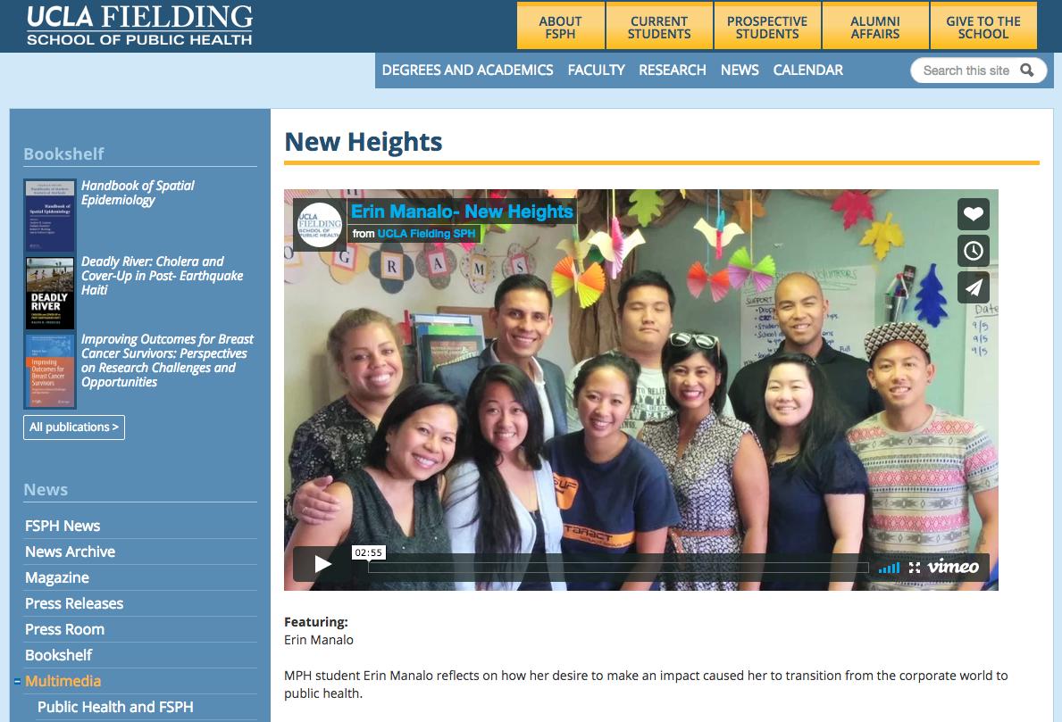 Video hosted on UCLA FSPH Website