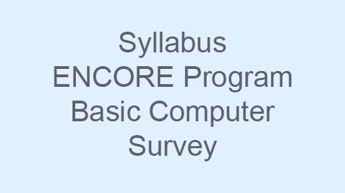 Syllabus Cover Image