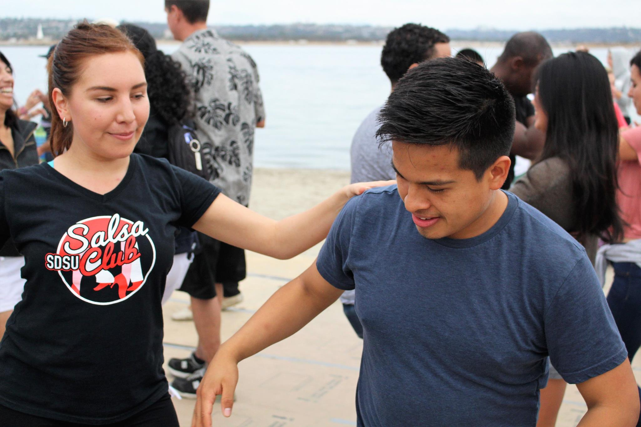 Social Dancing at an event called Salsa On the Beach