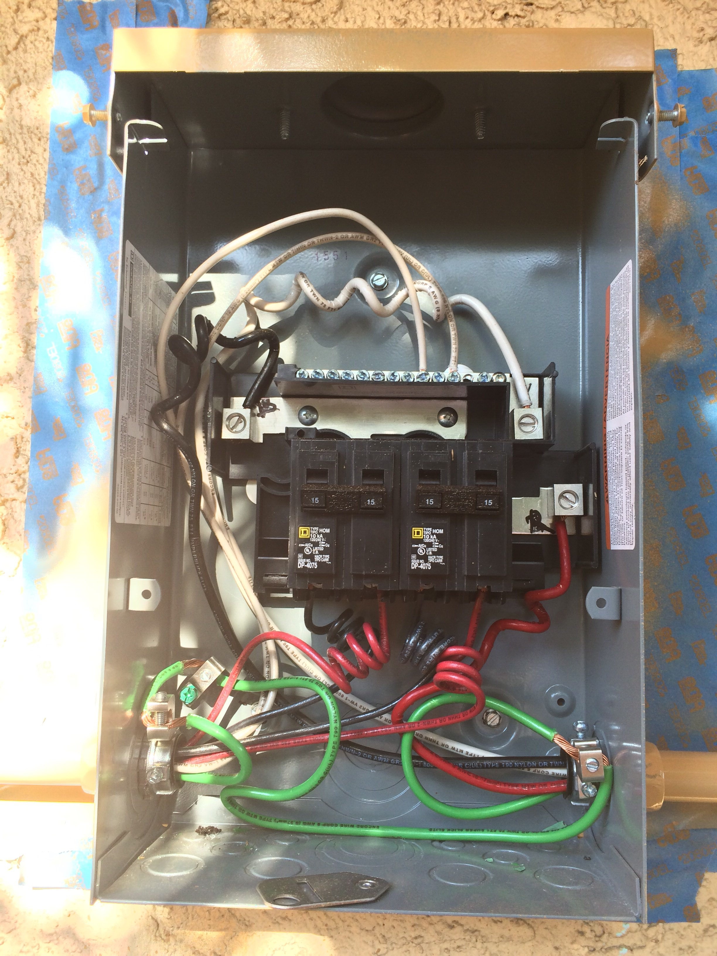 load center / combiner box