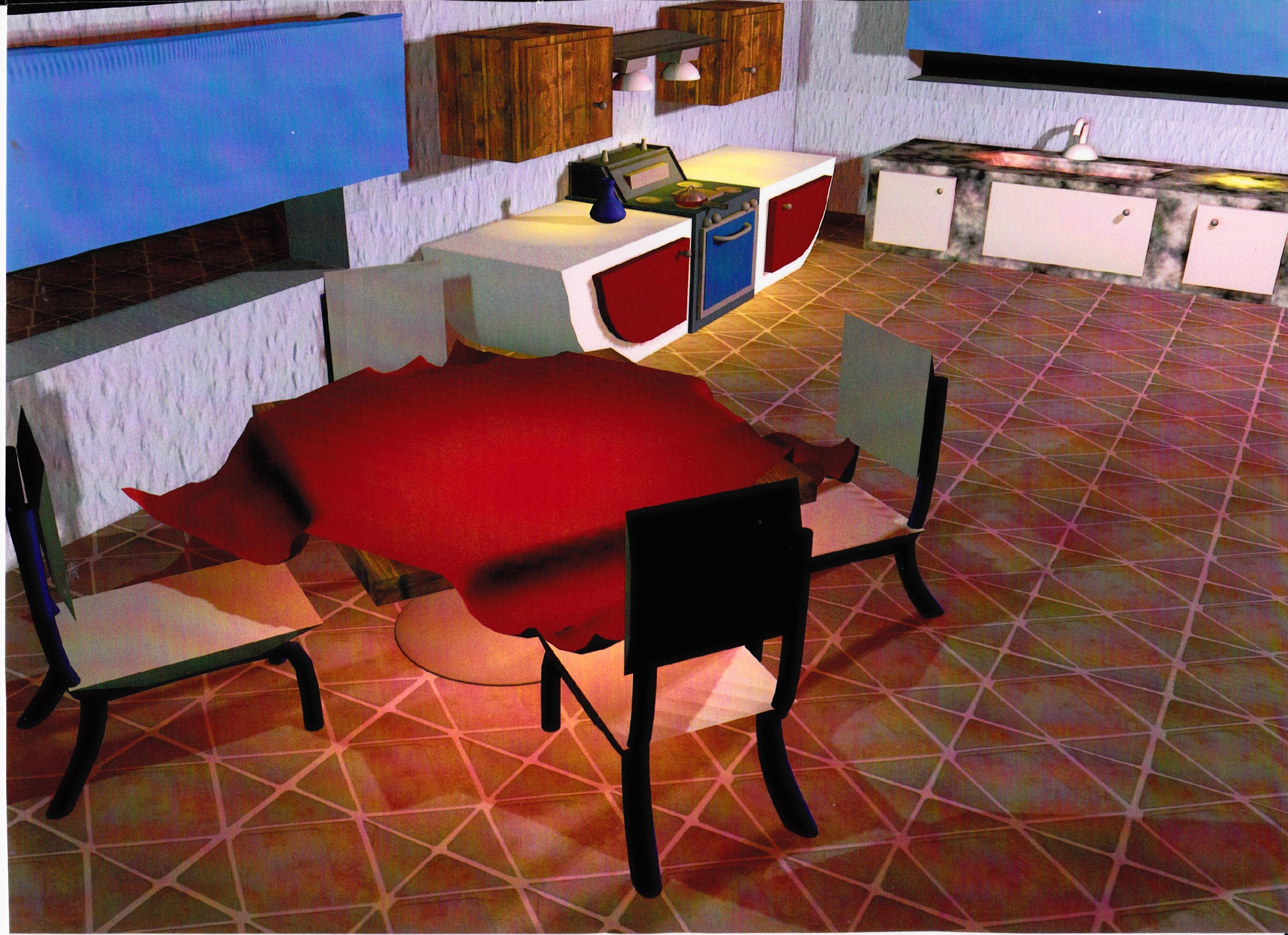 Maya 3D Kitchen